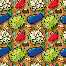 Bright Cartoon Garden Vegetables ...