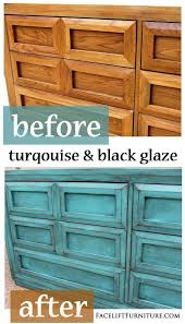 distressed turquoise furniture. The Molding Around Fronts Of Drawers Double As Pulls This Dresser Is Painted Glazed And Distressed In Turquoise Throughout Furniture