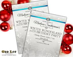 Winter Holiday Party Invitation Winter Wonderland Invitation Etsy