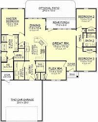 house plans 4 bedroom single story new √ 1 story 4 bedroom open floor plans