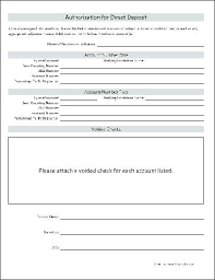 Direct Debit Form ach deposit authorization form template – poquet