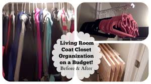 small under the stairs living room coat closet organization on a budget before after you