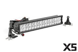 off road led lights lighting accessories rough country 20 inch cree led light bar dual row x5 series