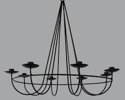 modern classic industrial black iron candle chandelier from china supplier for restaurant swirling