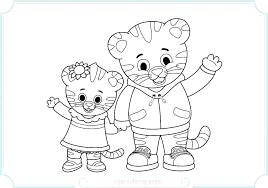 Daniel Tiger Coloring Page Tiger Coloring Page Various Coloring