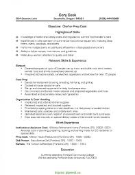 Valuable Cook Resume Sample Prep And Line Samples Genius Cover Lette