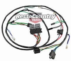 Holden h4 h1 twin headlight relay wiring loom harness hx hz suithigh watt globe