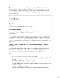 Chic Housekeeping Resume Objective Sample For Your Examples Of 10a