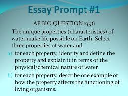 essay prompt ap bio question ppt  essay prompt 1 ap bio question 1996