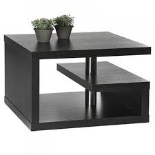 apartments living room dark wood and glass coffee table extra small side table dark