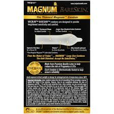 Amazon Com Trojan Magnum Bareskin Lubricated Large Size