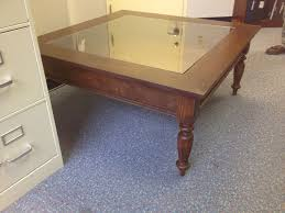 picture of how to build glass top shadow box coffee table
