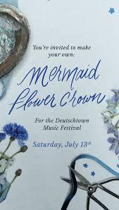 Make Your Own <b>Mermaid Flower</b> Crown — The Farmer's Daughter