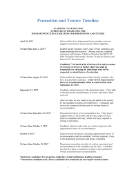 Faculty Promotion Letter Of Recommendation Sample Promotion And Tenure Timeline 2015 16