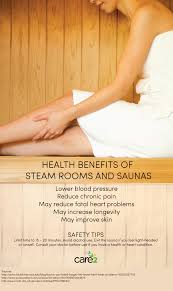 health benefits of steam rooms and saunas