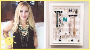 diy jewelry organizer cute and easy