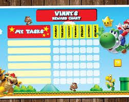 Create Your Own Chart Super Mario Free Online Reward Chart