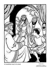 Het Licht Op Ons Pad Materiaal Jezus In De Tempel