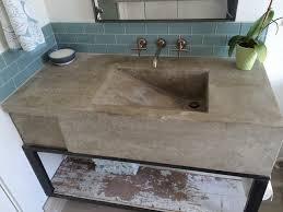 custom concrete sink modern