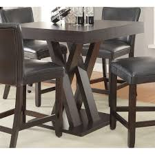 coaster counter height dining table in cappuccino