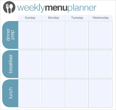 one week menu planner weekly meal prep planner agi mapeadosencolombia co