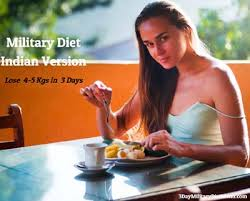 Military Diet Chart India Military Diet Indian Version For Vegetarians Non Vegetarians
