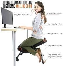 kneeling office chair. Desk Chair Kneeling Edge Ergonomic Accessories Standing Office Mobi U