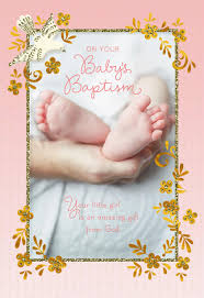 Baptism Cards Baby Feet Religious Baptism Card For Girl