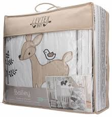 elgeo levtex baby bailey charcoal and