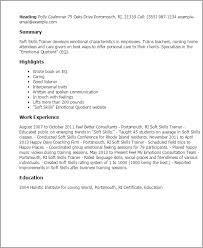 Soft Skills For Resume Simple 28 Soft Skills Trainer Resume Templates Try Them Now MyPerfectResume