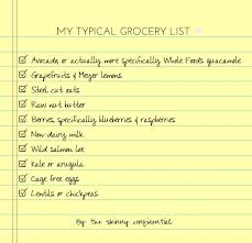 Typical Grocery List Cant Leave The Grocery Store Without The Skinny Confidential