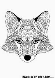 Fox Pattern Cool Coloring Pages Online Free Girls Mandala Small