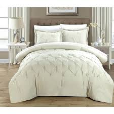 pleated duvet cover chic home 3 piece pinch pleat duvet cover set pintuck duvet cover
