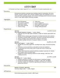 Marketing Resumes Templates Entrepreneurial Marketer Resume Template Sample Marketing Resume 1