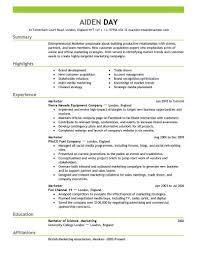 Resume Template Marketing Entrepreneurial Marketer Resume Template Sample Marketing Resume 1