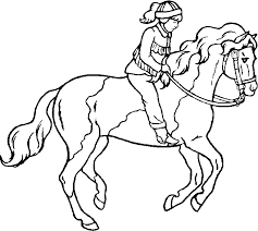 Horse with raised rear legs. Free Printable Horse Coloring Pages For Kids