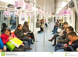 people inside subway train. Simple Subway Shanghai Metro Train China In People Inside Subway Train P