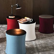 round table davis contemporary pouf fabric leather round davidson console table
