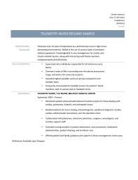 Sample Cardiac Nurse Resume Telemetry Nurse Resume Samples Tips And Templates Online