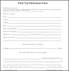 Generic Permission Slip Template Field Trip Permission Slip Form