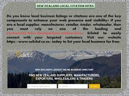New Zealand Local Citation Sites By Eclick D Issuu