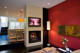 modern style red wall living room red living room wall for a color backsplash decoist