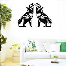 Small Picture Aliexpresscom Buy CaCar New Design Geometry Wolf Wall Decals