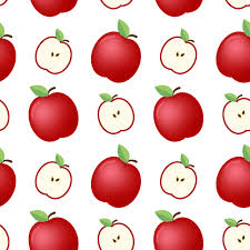 Apple Pattern Interesting Apple Seamless Pattern Background Labs On We Heart It
