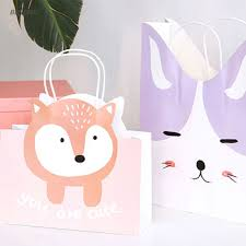 silly style custom printed personalised paper gift bags with handles