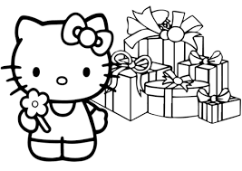 Small Picture Hello Kitty Happy Christmas coloring page Free Printable
