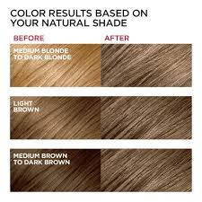 Light Brown Hair Color Loreal Paris Excellence Creme Permanent Hair Color 6 Light Brown 100 Gray Coverage Hair Dye Pack Of 1