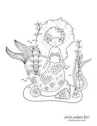 Be sure to check seasonal holiday pages for holiday related coloring. 30 Mermaid Coloring Pages Free Fantasy Printables Print Color Fun