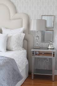 hayworth collection mirrored furniture. Hayworth Collection With Glass Nightst Ands And Bedside Tables Bedroom Transitional Mirrored Furniture