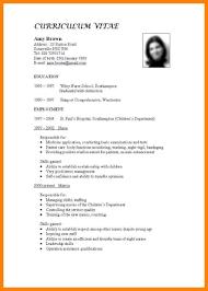 Standard Format For Resume Standard Format For Cv Fieldstationco Resume Standard Format Best 12